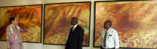 Constitutional Court of South Africa - installation of 'Mountain Triptych'